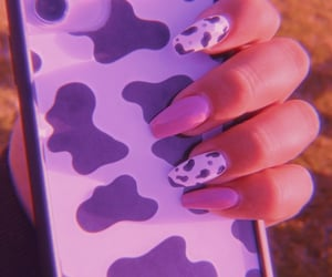 pink nails, cow nails, and cow cover image