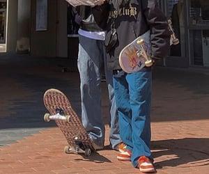aesthetic, skater, and skateboard image
