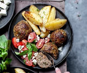 bake, meatball, and greek food image