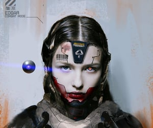 android, sci-fi, and cyborg image