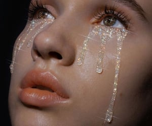 aesthetic, glitter, and tears image