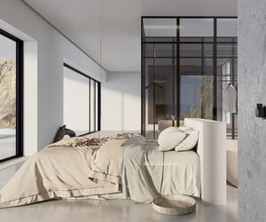 bedroom, bedroom interior, and calm image