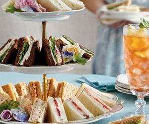 food, sandwich, and tea image