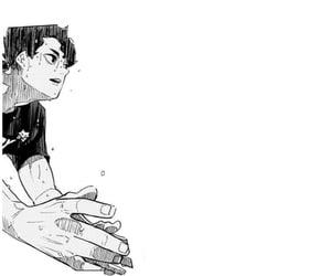 black and white, manga cap, and haikyu image