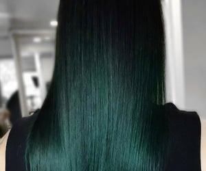 green hair, hairstyle, and hairdye image