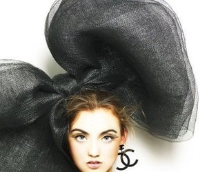 chanel, bow, and black image