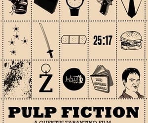 pulp fiction, quentin tarantino, and poster image