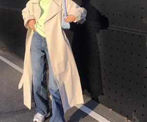 beige trench coat, fashionista fashionable, and fashion style mode image