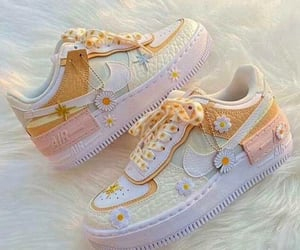 sneakers, flowers, and pastel image