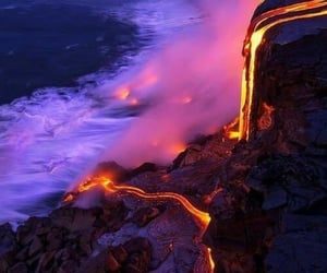 lava, volcano, and nature image