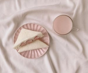 aesthetic, pink, and sandwich image