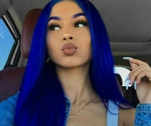 blue hair, fantasy color hair, and fashion color image