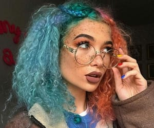hair, freckles, and glasses image