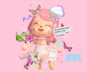 animal crossing, overlay, and pink image