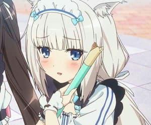 anime, neko, and nekomimi image