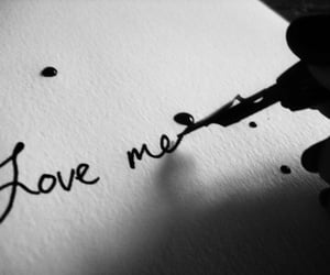 calligraphy, love me, and valentine image