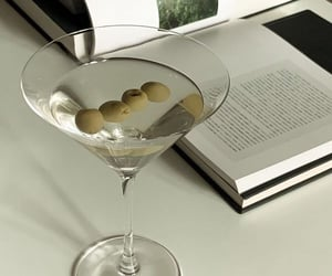 books, chic, and drinks image