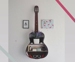 aesthetic, guitar, and handmade image