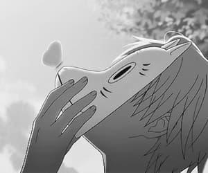 winter, anime, and hotarubi no mori e image