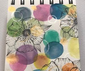 art, artwork, and flowers image