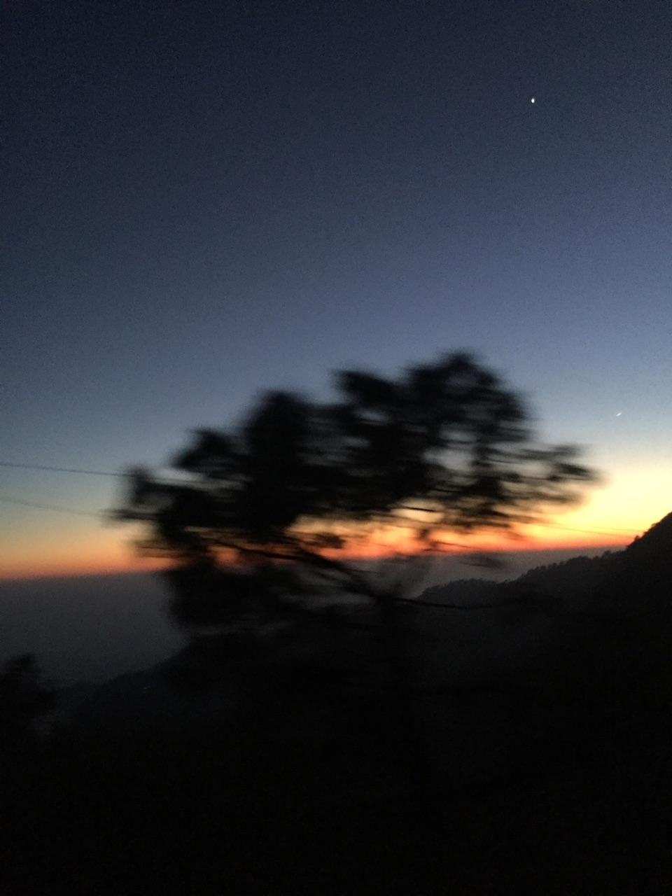 dark, horizon, and scenery image