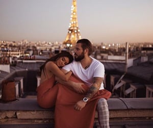 couple, paris, and Relationship image