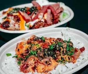 poke, seafood, and tuna image