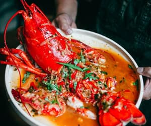 asian food, vietnamese food, and grilled lobster image