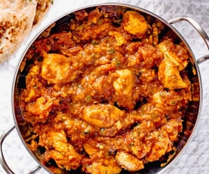 food, chicken curry, and indian food image