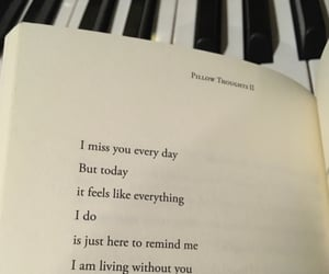 i miss you, piano, and poem image