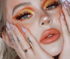 makeup, nails, and aesthetic image