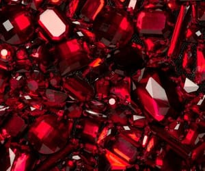 crystals, gem, and red image