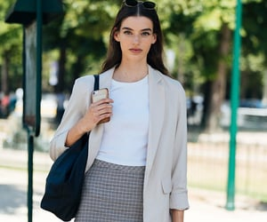 fashion, white tee, and model off duty image