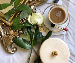 coffee, florals, and flowers image