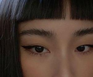 girl, asian, and bangs image