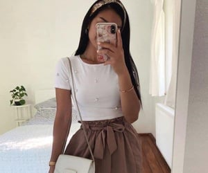 fashion, headband, and outfit image