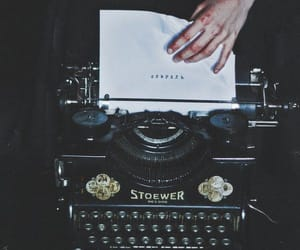 aesthetic, hands, and writing machine image