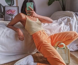 color, pants, and mirror image