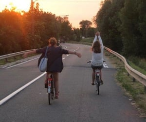 bike, friends, and summer image
