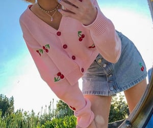 alternative, cardigan, and cherry image