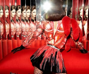 burlesque, drag, and red image