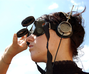 2007, headphone, and steampunk image