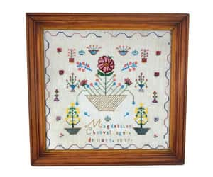 19th century, antique embroidery, and antique bead work image