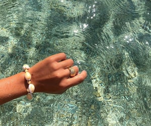summer, sea, and bracelet image