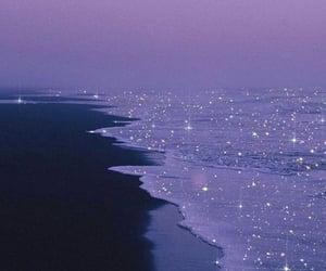 beach, aesthetic, and purple image