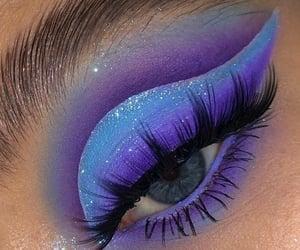 beauty, blue eyeshadow, and eye makeup image