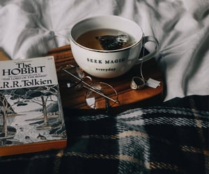 blanket, glasses, and hobbit image