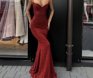 bridesmaid, long dress, and chic image