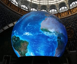 earth, hologram, and planet image