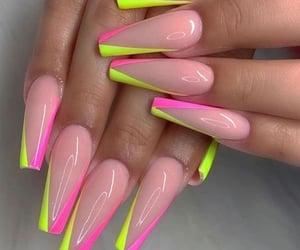 fake nails, hands, and acrylic nails image